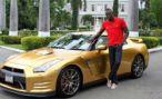 Усейну Болту доставили золотой Nissan GT-R Spec Bolt