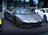 Папарацци сфотографировали родстер Lamborghini Aventador LP720-4 50 Anniversario