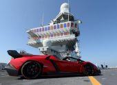 Lamborghini Veneno Roadster доставили на премьеру в Эмираты на авианосце